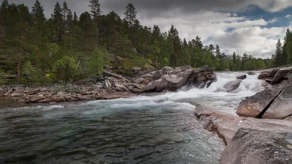 rapids waterfall lake water norway nature timelapse