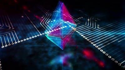 Ethereum symbol loopable 3d