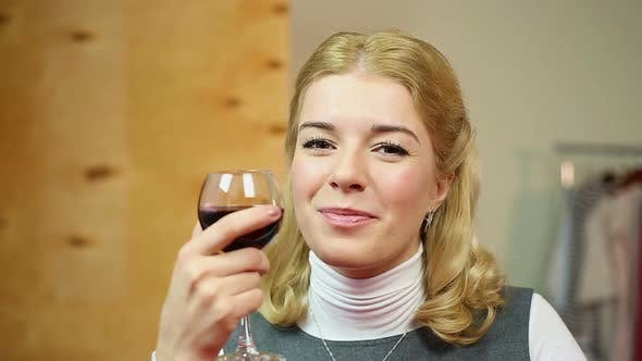 Thumbnail for Woman Drinking Red Wine
