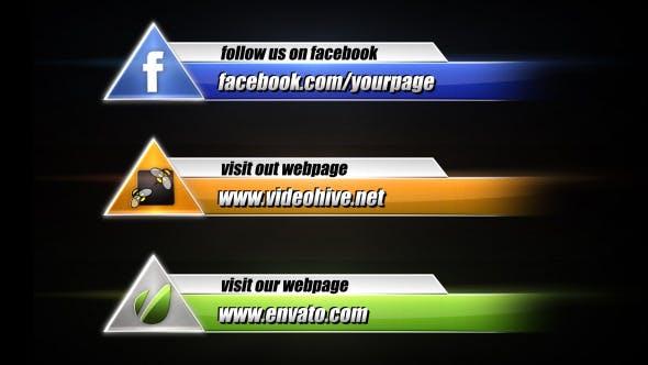 Thumbnail for Social Media Lower Third Pack 4