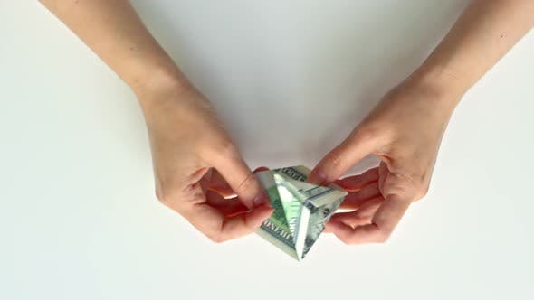 Thumbnail for Folding Bird Origami from Money