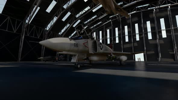Thumbnail for Fighter Jet parked in the Maintenance Hangar