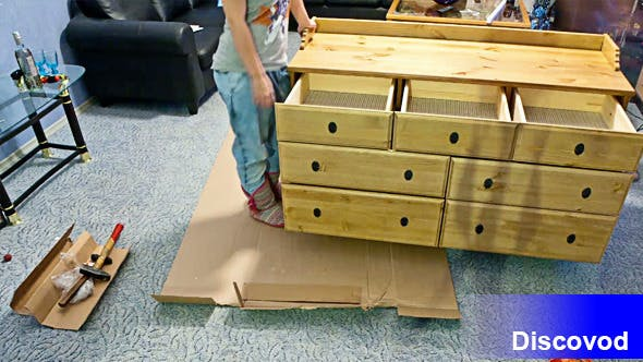 Thumbnail for Man and Woman Assembling Furniture