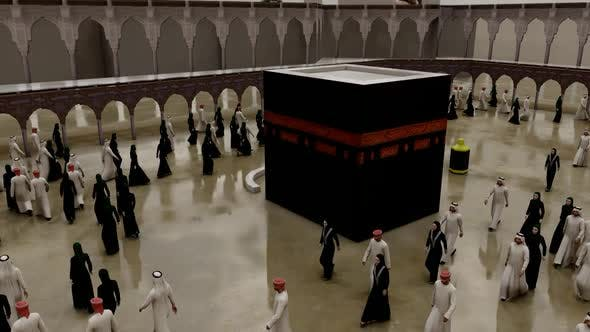Thumbnail for Muslims Tawaf Kaaba in Rainy Weather