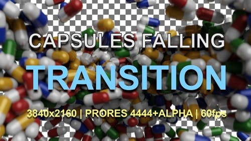 Capsules Transition   UHD   PRORES4444+ALPHA   60fps
