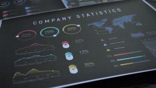 Financial Business Graph Slider Shot 4k