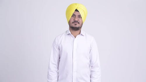 Bearded Indian Sikh Businessman Wearing Turban