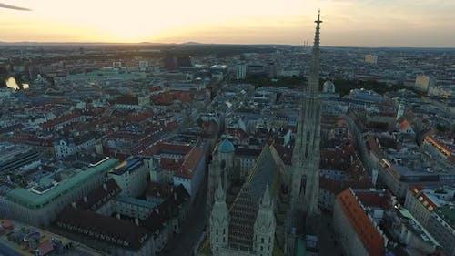 Aerial of Viennas first district