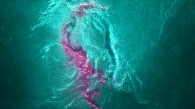Space flight through nebula