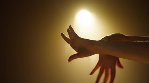Hands Dancing Vogue Closeup