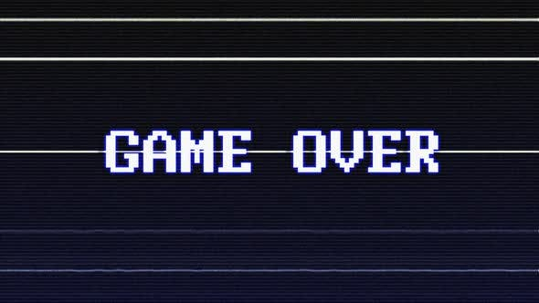 Thumbnail for Game Over Glitch Text with Alpha Matte