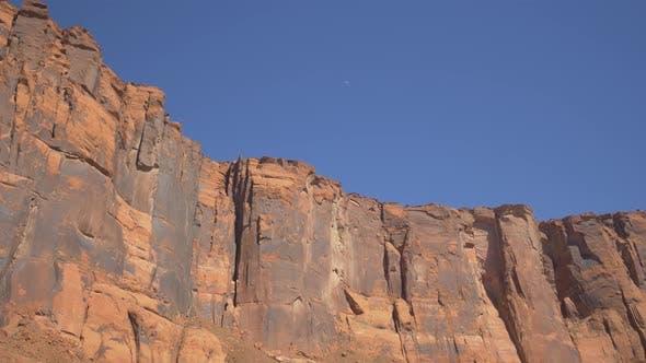 A vertical cliff