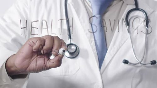 Asian Doctor Writing Health Savings Account