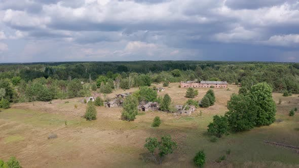Thumbnail for Drone Flight Near Ruins of Farm in Chernobyl Zone