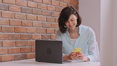 Happy Student Messaging Indoors
