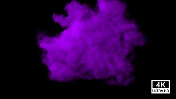 Thumbnail for Huge Purple Color Smoke 4K