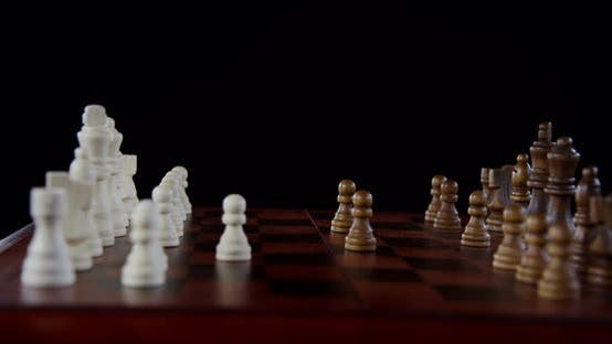 Thumbnail for Players Hands Moving Chess Pieces On Chessboard 06b