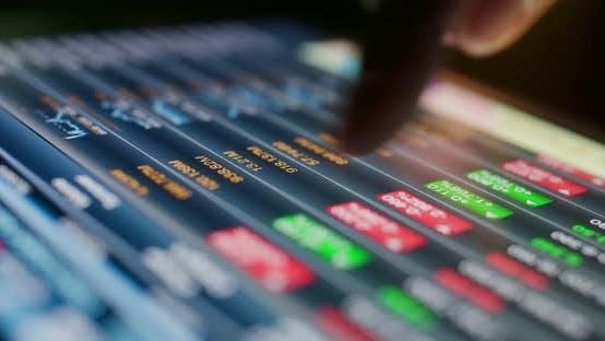 Thumbnail for Stock market data on tablet