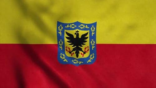 Bogota-Hauptstadt Flagge Kolumbiens winkt im Wind