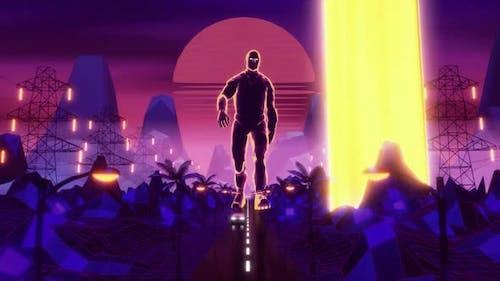 Cyberpunk Retro Walk