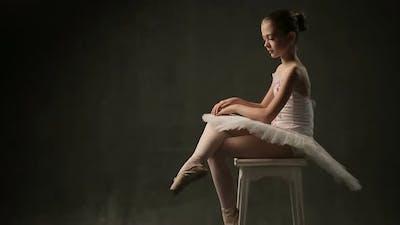 Ballerina in Tutu and Pointe