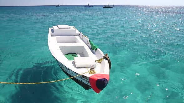 Thumbnail for Little wooden boat floating in the Red sea, Egypt