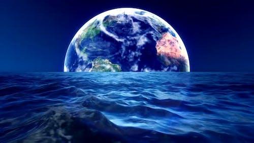 Die Erde am Horizont