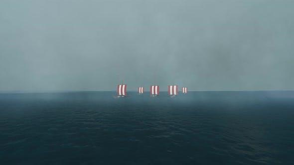 Thumbnail for Vikings Ships In The Fog