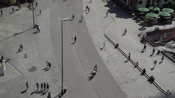 Thumbnail for TIME LAPSE: Crowd of People Walking Over Plaza in German City Frankfurt Am Main in Summer Hauptwache