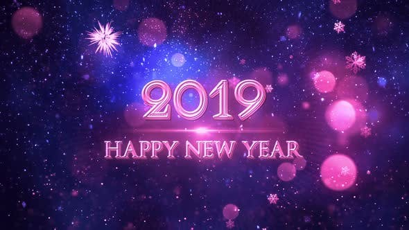Thumbnail for Happy New Year 2019 Blue