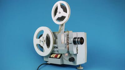 Plays Movies On An Old Cinema Projector.