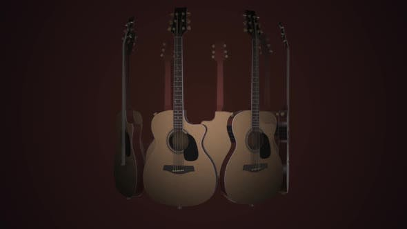 Realistic 3D animation of acoustic guitars