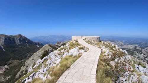 Viewpoint at Mausoleum of Njegos on Mount Lovcen, Montenegro