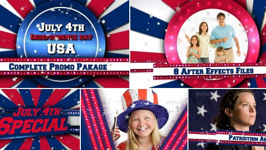 Thumbnail for July 4th USA Patriotic Broadcast Promo Pack