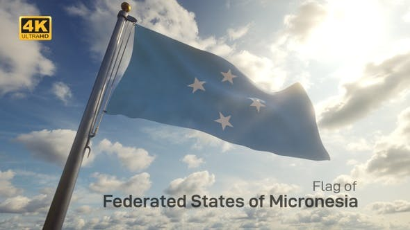 Thumbnail for Micronesia Flag on a Flagpole - 4K