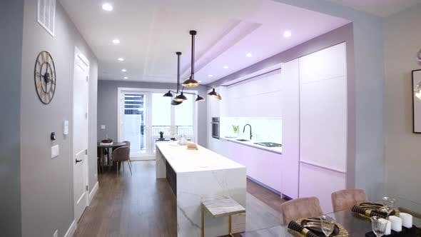 Thumbnail for White Modern Kitchen in a House with a Beautiful Design