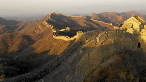 Fliegen über die Chinesische Mauer