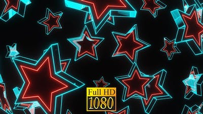 Flying Neon Stars HD