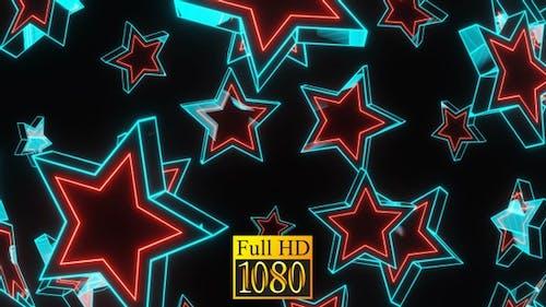 Flying Neon Stars HD
