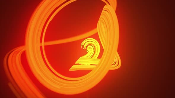 Thumbnail for Abstract Gold Spline Rotation Background