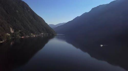 Aerial of Lake Hallstatt Upper Austria