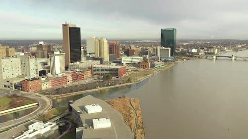 Aerial Drohne Video autohersteller Werk Toledo Ohio USA