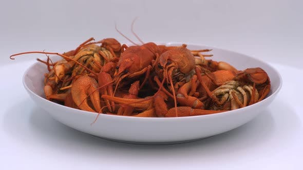 Red boiled crayfish