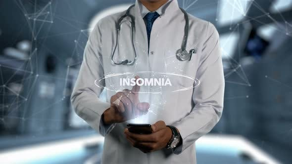 Thumbnail for Insomnia Male Doctor Hologram Illness Word