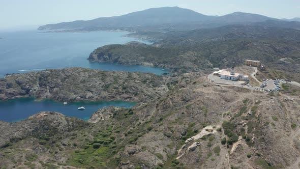 Thumbnail for Drone Flight Over Mountain Hills of Cap De Creus
