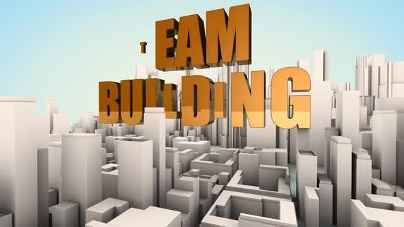 Team building conceptual motion background