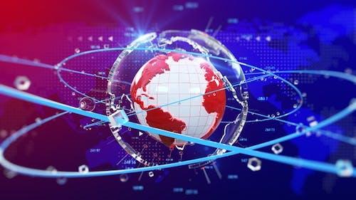 World News Background Loop transparente