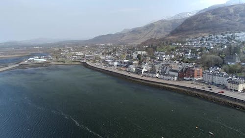 Fort William Town in Scotland Seen from the Air