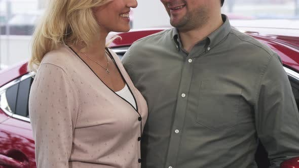 Thumbnail for Cropepd Shot of a Happy Couple Holding Car Keys To a Newly Bought Car
