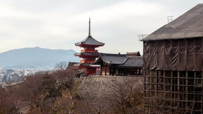 Kyoto Kiyomizudera Temple Complex Pagoda Timelapse